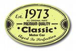 Distressed Aged Established 1973 Aged To Perfection Oval Design For Classic Car External Vinyl Car Sticker 120x80mm